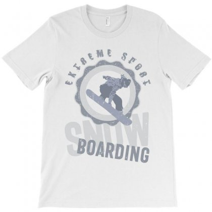 Snowboarding Extreme Sport T-shirt Designed By Cidolopez