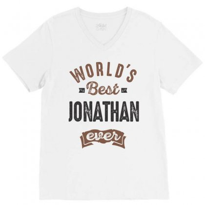 Is Your Name Jonathan ? This Shirt Is For You! V-neck Tee Designed By Chris Ceconello