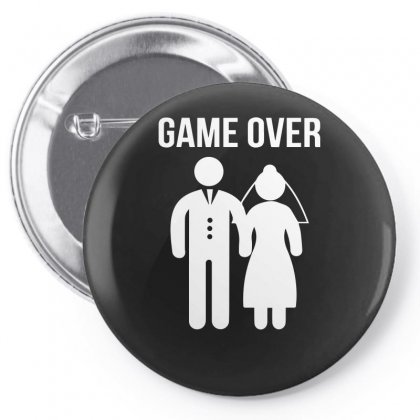 Game Over Funny Pin-back Button Designed By Enjang