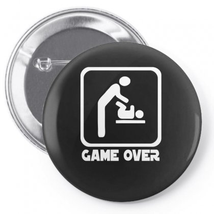 Game Over Daddy Funny Pin-back Button Designed By Enjang