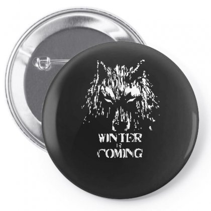 Game Of Thrones Direwolf Winter Is Coming Pin-back Button Designed By Enjang