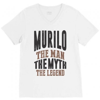 Is Your Name  Murilo ? This Shirt Is For You! V-neck Tee Designed By Chris Ceconello