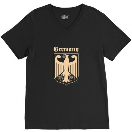 Germany Deutschland Bundesadler Berlin V-neck Tee Designed By Enjang