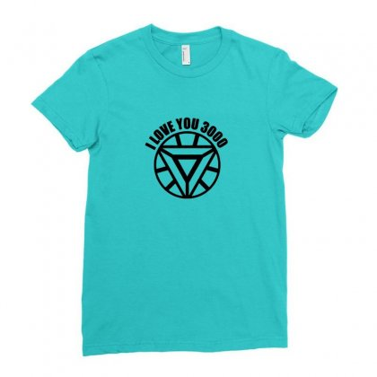 I Love You 3000 Three Thousand Times Ladies Fitted T-shirt Designed By Tasha