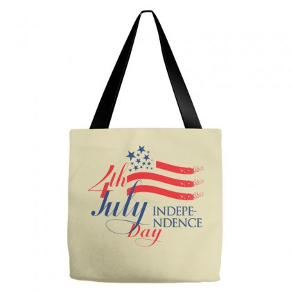 Usa Independence Day Creative Icon Tote Bags Designed By Lion Star Art