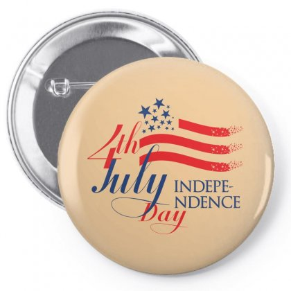 Usa Independence Day Creative Icon Pin-back Button Designed By Lion Star Art