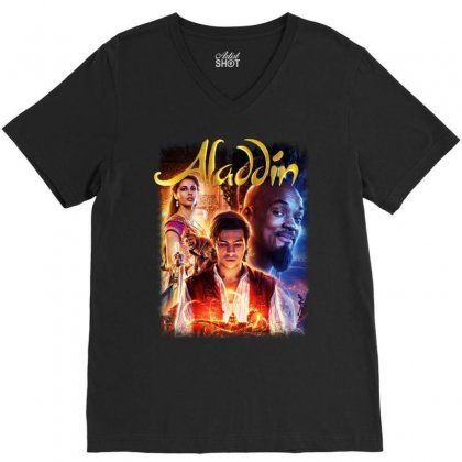 Aladdin V-neck Tee Designed By Pinkanzee