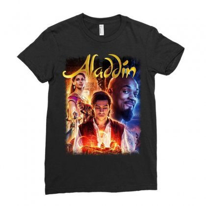 Aladdin Ladies Fitted T-shirt Designed By Pinkanzee