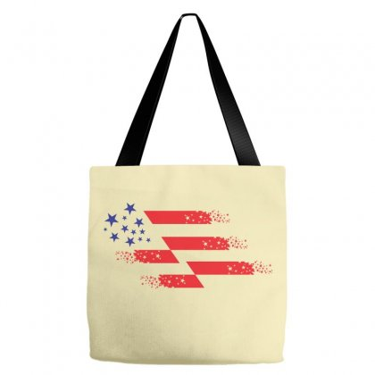 Us Flag Creative Illustration Tote Bags Designed By Lion Star Art