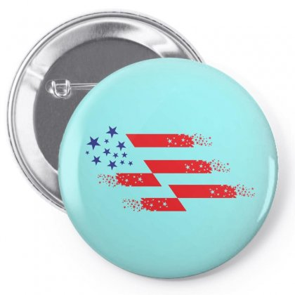 Us Flag Creative Illustration Pin-back Button Designed By Lion Star Art