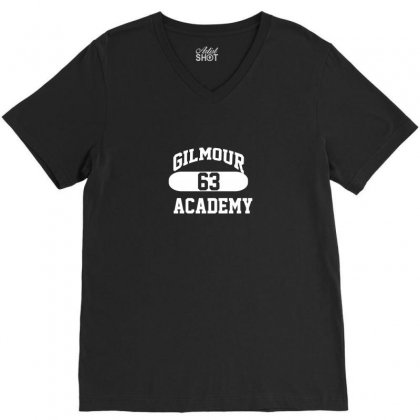 Gilmour Academy   As Worn By Dave   Pink Floyd   Mens Music V-neck Tee Designed By Funtee