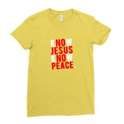 Know Jesus Know Peace Merch Ladies Fitted T-shirt Designed By Tasha