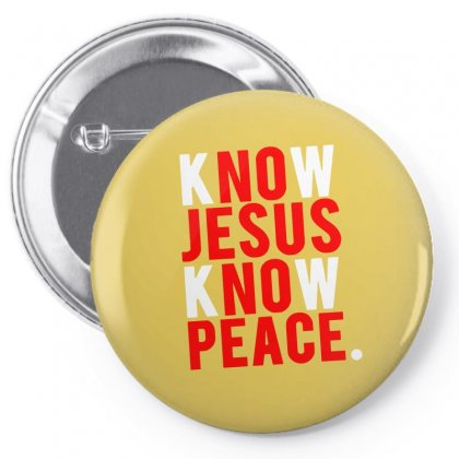 Know Jesus Know Peace Merch Pin-back Button Designed By Tasha