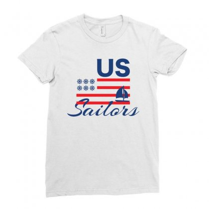 Us Sailors Creative Icon Ladies Fitted T-shirt Designed By Lion Star Art