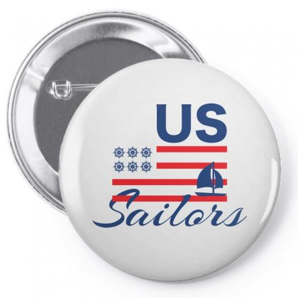 Us Sailors Creative Icon Pin-back Button Designed By Lion Star Art