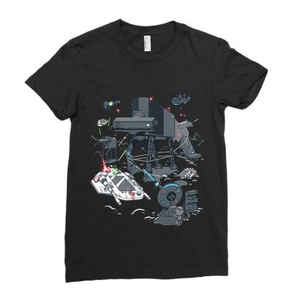 Console Wars Ii Ladies Fitted T-shirt Designed By Equinetee