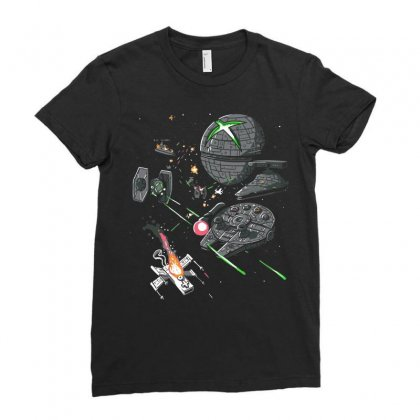 Console Wars 1 Ladies Fitted T-shirt Designed By Equinetee