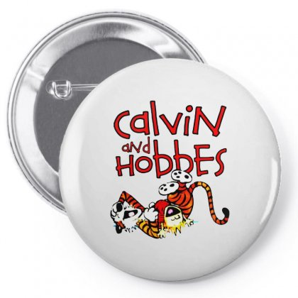 Calvin And Hobbes Pin-back Button Designed By Pinkanzee