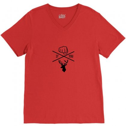 Knuck If You Buck Tee V-neck Tee Designed By Tasha