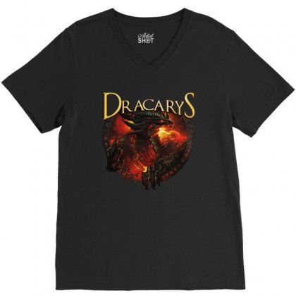Dracarys V-neck Tee Designed By Pinkanzee