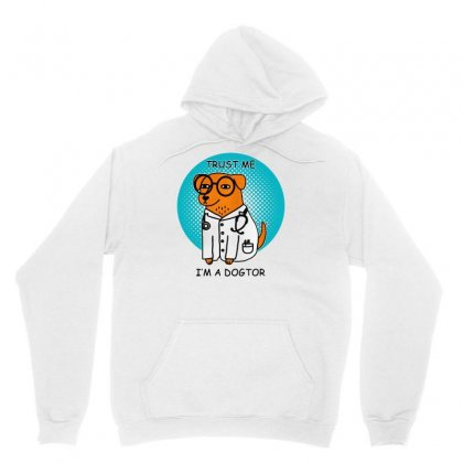 Trust Me I'm A Dogtor Unisex Hoodie Designed By Pinkanzee
