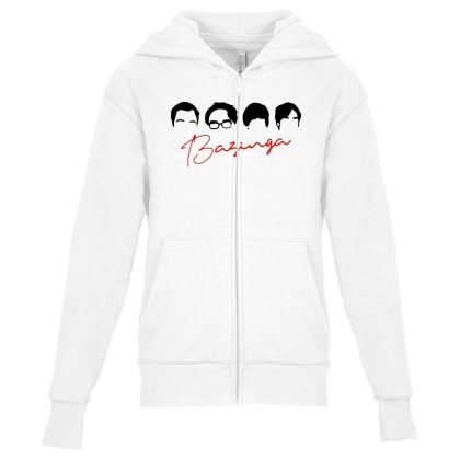 The Big Band Theory 2 Youth Zipper Hoodie Designed By Blqs Apparel