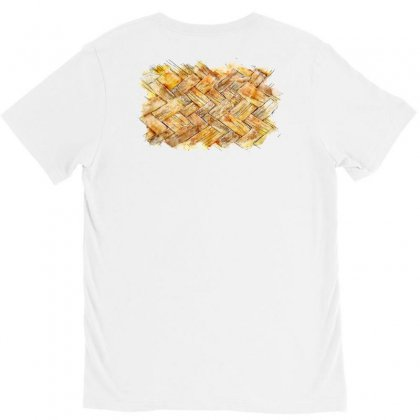 Mat Waving Watercolor Drawing V-neck Tee Designed By Lion Star Art