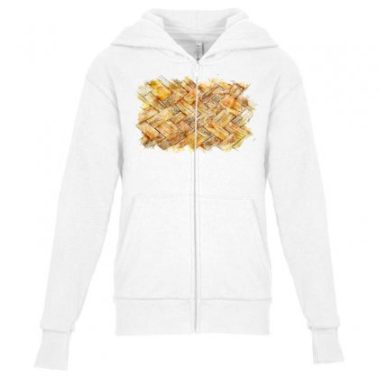 Mat Waving Watercolor Drawing Youth Zipper Hoodie Designed By Lion Star Art