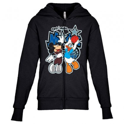 Orlando Basketball Youth Zipper Hoodie Designed By Tiococacola