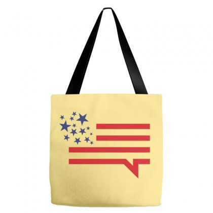 Usa Speech Bubble Creative Icon Tote Bags Designed By Lion Star Art