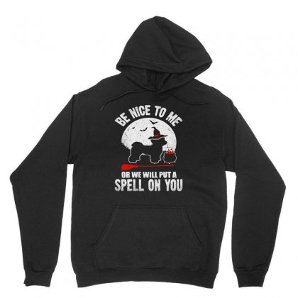 Be Nice To Me Or We Will Spell On You Unisex Hoodie Designed By Blqs Apparel