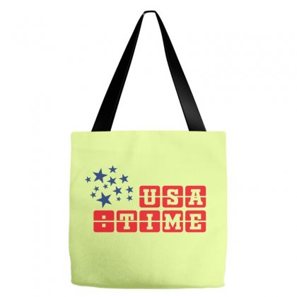 Usa Time Creative Icon Tote Bags Designed By Lion Star Art