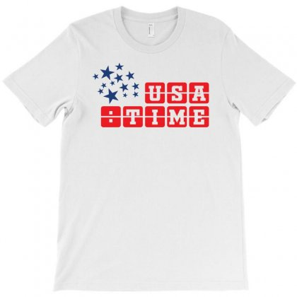 Usa Time Creative Icon T-shirt Designed By Lion Star Art