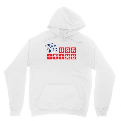 Usa Time Creative Icon Unisex Hoodie Designed By Lion Star Art