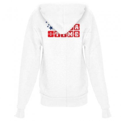 Usa Time Creative Icon Youth Zipper Hoodie Designed By Lion Star Art