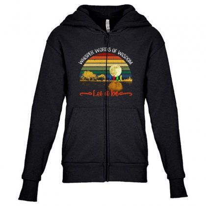 Let It Be Youth Zipper Hoodie Designed By Blqs Apparel