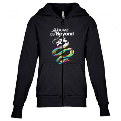 Above And Beyond Youth Zipper Hoodie Designed By Blqs Apparel