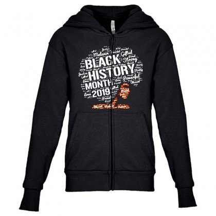 Black History Month 2019 Youth Zipper Hoodie Designed By Blqs Apparel