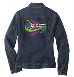 Arabic calligraphy creative collage Ladies Denim Jacket | Artistshot