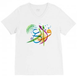 Arabic calligraphy creative collage V-Neck Tee | Artistshot
