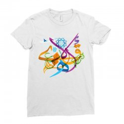 Arabic calligraphy creative collage Ladies Fitted T-Shirt | Artistshot