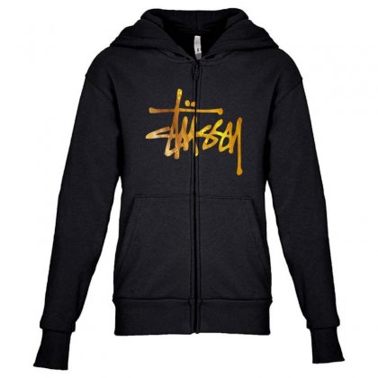 Golden Style Youth Zipper Hoodie Designed By Pinkanzee