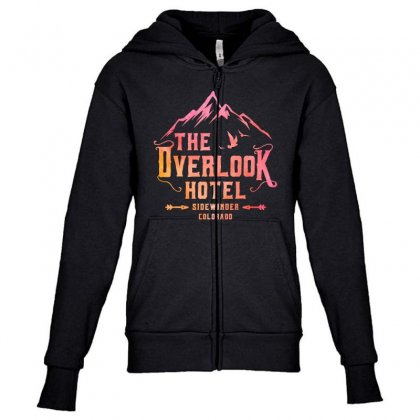 The Overlook Hotel Youth Zipper Hoodie Designed By Pinkanzee