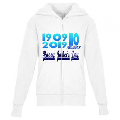 304424128 1023708974 Happy Fathers Day (1) Youth Zipper Hoodie Designed By Rsimark