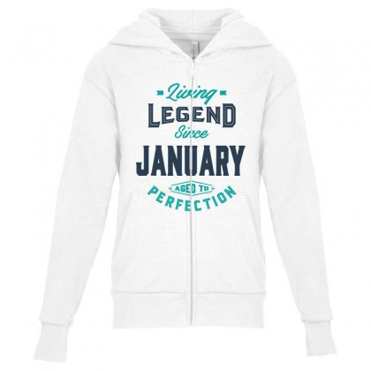 Since January Youth Zipper Hoodie Designed By Chris Ceconello