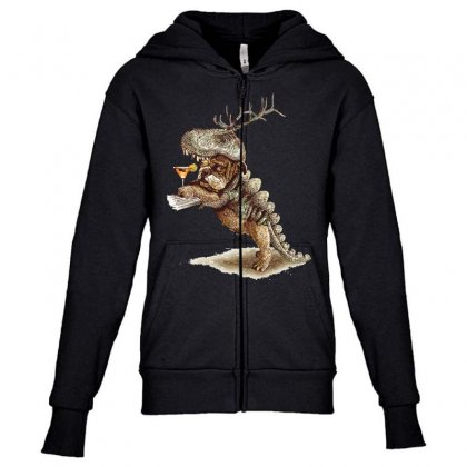 Costume Party Youth Zipper Hoodie Designed By Equinetee