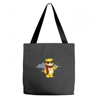 Couldn't Care Less Bear Tote Bags Designed By Equinetee