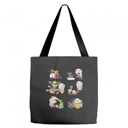 Crazy Dragon Lady Tote Bags Designed By Equinetee
