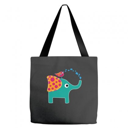 Cute Elephant And Bird Tote Bags Designed By Equinetee