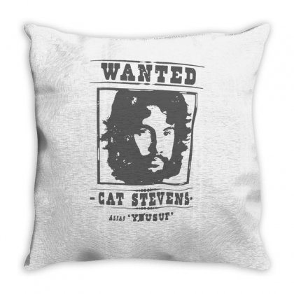 Cat Stevens Wanted Throw Pillow Designed By Teeshop